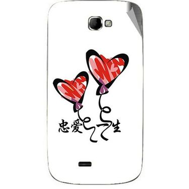 Snooky 46086 Digital Print Mobile Skin Sticker For Micromax Canvas Engage A091 - White