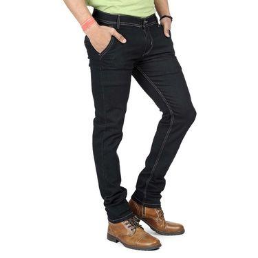 Pack of 2 Blended Cotton Slim Fit Jeans_502503 - Black & Blue