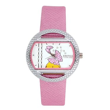 Exotica Fashions Analog Oval Dial Watch For Women_Efl8w73 - Pink