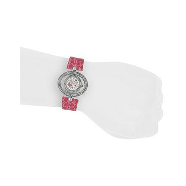 Exotica Fashions Analog Round Dial Watch For Women_Efl18w19 - White & Grey