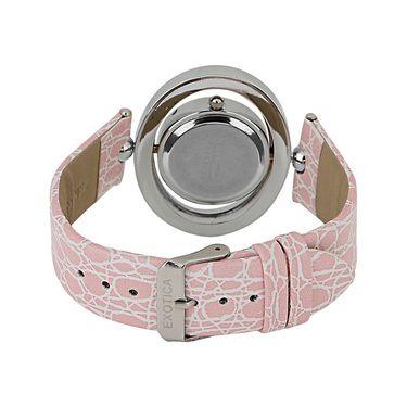 Exotica Fashions Analog Round Dial Watch For Women_Efl18w17 - White & Grey