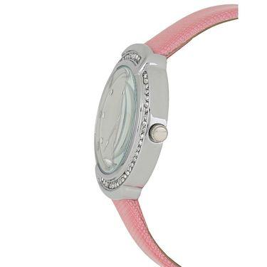 Exotica Fashions Analog Round Dial Watch For Women_Efl27w51 - White & Silver