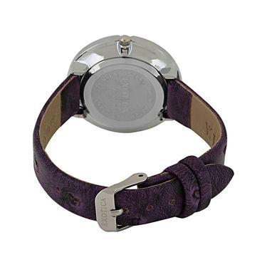 Exotica Fashions Analog Round Dial Watch For Women_Efl29w9 - White