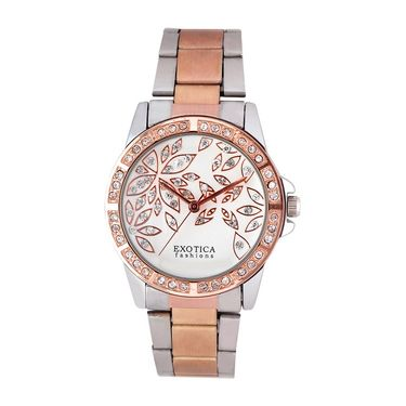 Exotica Fashions Analog Round Dial Watch For Women_EflSTw16 - White