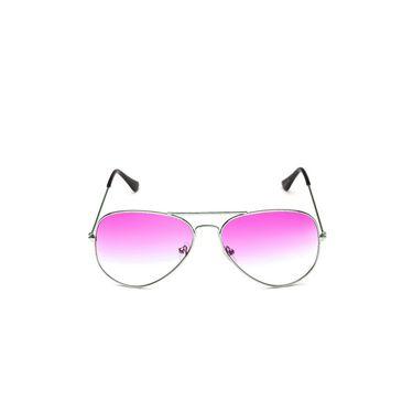 Alee Metal Oval Unisex Sunglasses_124 - Pink