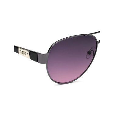 Alee Metal Oval Unisex Sunglasses_136 - Purple