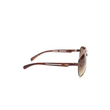 Alee Metal Oval Unisex Sunglasses_153 - Brown