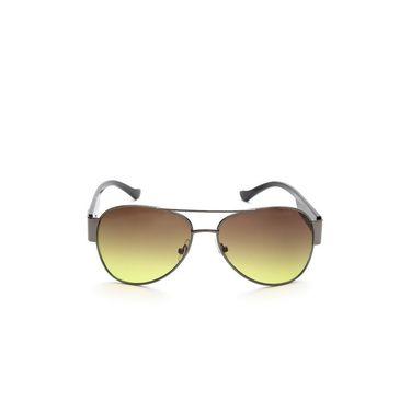 Alee Metal Oval Unisex Sunglasses_168 - Brown