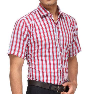Rico Sordi Half Sleeves Checks Shirt_R007hs - Red