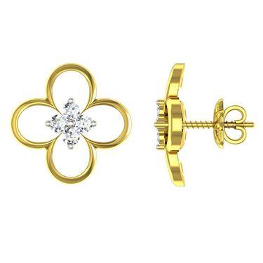 Ag Real Diamond Poonam Earrings_Agse0162y