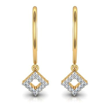 Avsar Real Gold and Swarovski Stone Varsha Earrings_Ave004yb