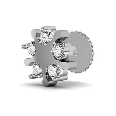 Avsar Real Gold and Swarovski Stone Jyoti Earrings_Ave006wb