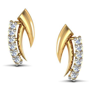 Avsar Real Gold and Swarovski Stone Minal Earrings_Ave008yb