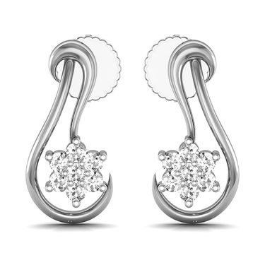Avsar Real Gold and Swarovski Stone Mira Earrings_Ave051wb