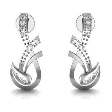 Avsar Real Gold and Swarovski Stone Channai Earrings_Ave0179wb