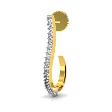 Avsar Real Gold and Swarovski Stone Madhavi Earrings_Bge010yb