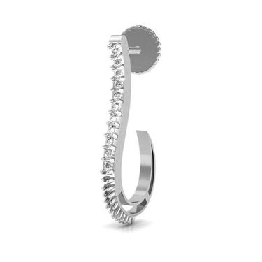 Avsar Real Gold and Swarovski Stone Priyanka Earrings_Bge010wb