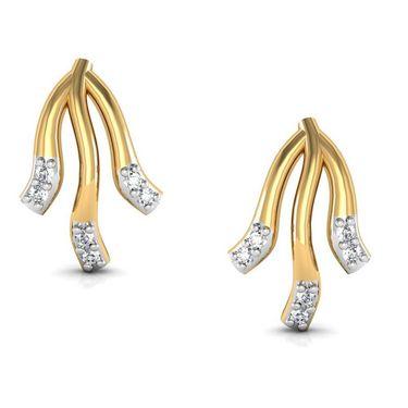 Avsar Real Gold and Swarovski Stone Drushti Earrings_Bge037wb