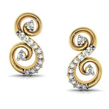 Avsar Real Gold and Swarovski Stone Payal Earrings_Bge050yb