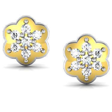 Avsar Real Gold and Swarovski Stone Rajasthan Earrings_Uqe003yb