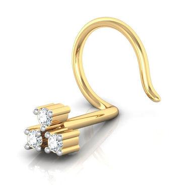 Avsar Real Gold & Swarovski Stone Janvhi Nose Pin_Av02yb