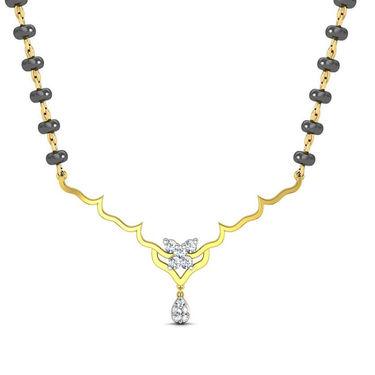Avsar Real Gold & Swarovski Stone Sikkim Necklace_Nl12yb
