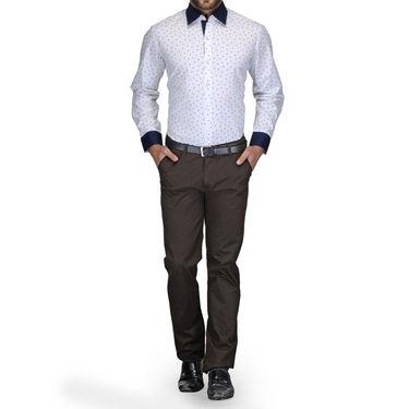 Full Sleeves Cotton Shirt_sht05print - White