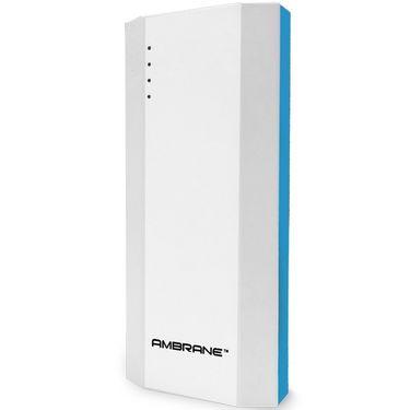 Ambrane Power Bank P-1111 (10000mAh) Capacity - White & Blue