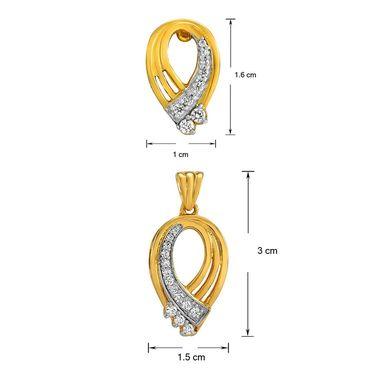 Mahi Gold Plated Crystal Pendant Set_Nl1101888g