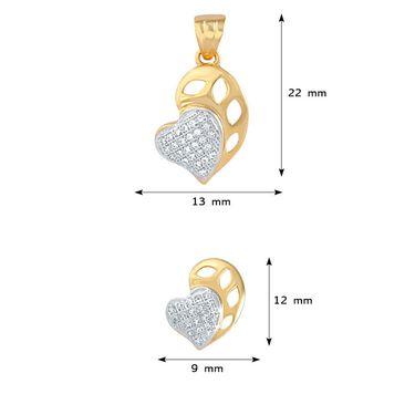 Mahi Gold Plated CZ Pendant Set_Nl1103553g