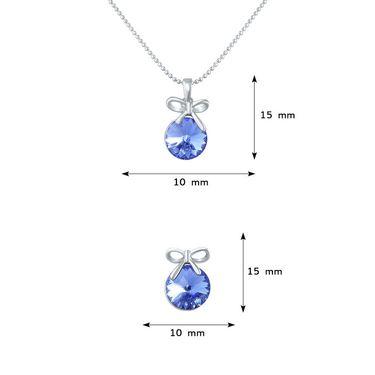 Mahi Rhodium Plated Swarovski Elements Pendant Set_Nl1104080rblu