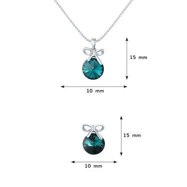 Mahi Rhodium Plated Swarovski Elements Pendant Set_Nl1104080rgr