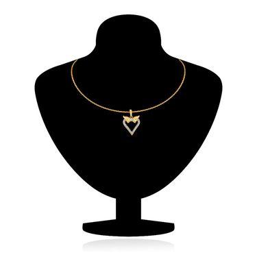 Mahi Gold Plated Crystal Pendant Set_Nl5101720gcd
