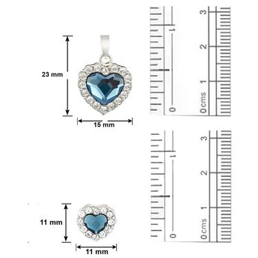 Mahi Rhodium Plated Swarovski Elements Pendant Set_Nl5104119rblucd
