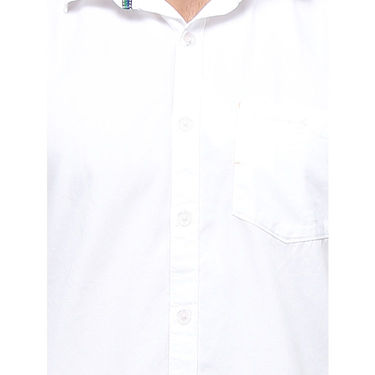 Crosscreek Full Sleeves Cotton Casual Shirt_1180301F - White