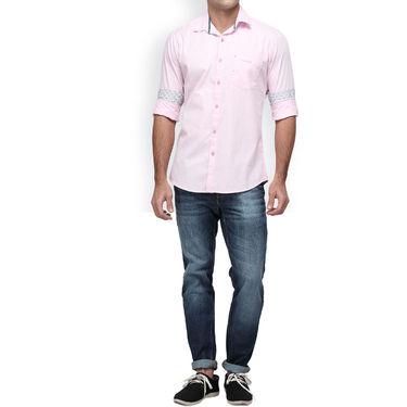 Crosscreek Full Sleeves Cotton Casual Shirt_1180302F - Pink