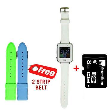 UNI N7100 Smart Watch With SIM (White)