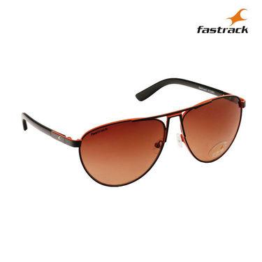 Fastrack 100% UV Protection Sunglasses For Men_M122br1 - Brown