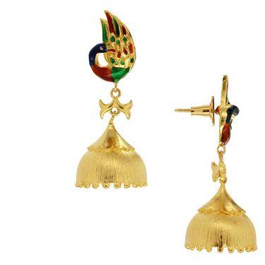 Spargz Peacock Bell Bottom Earring_Aier324 - Multicolor