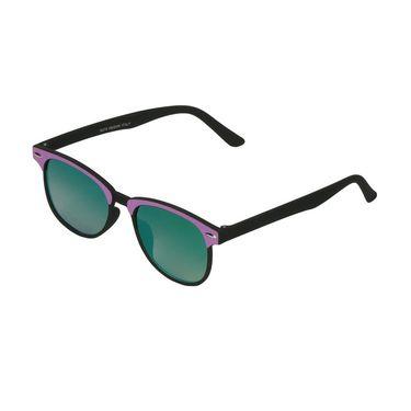 Swiss Design Wayfarer Plastic Sunglasses For Unisex_S18276prbk - Greenish Blue