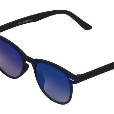 Swiss Design Wayfarer Plastic Sunglasses For Unisex_S18276dblbk - Blue