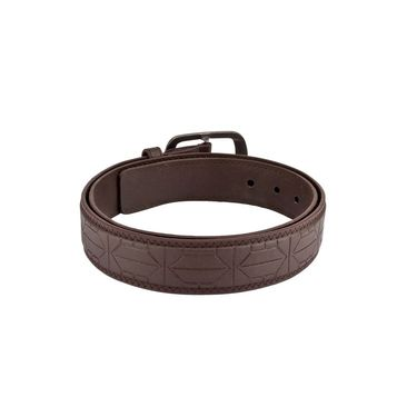 Mango People Leatherite Casual Belt For Men_Mp107br - Brown