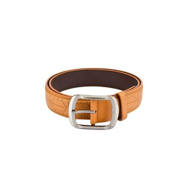 Mango People Leatherite Casual Belt For Men_Mp107tn - Tan