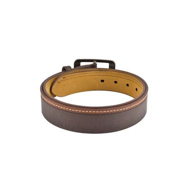 Mango People Leatherite Casual Belt For Men_Mp112br - Brown