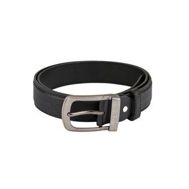 Mango People Leatherite Casual Belt For Men_Mp119bk - Black