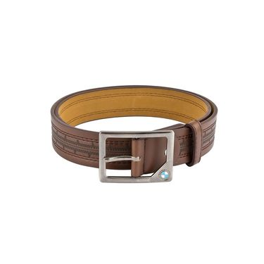 Mango People Leatherite Casual Belt For Men_Mp123br - Brown