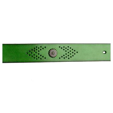 Swiss Design Leatherite Casual Belt For Men_Sd01gr - Green