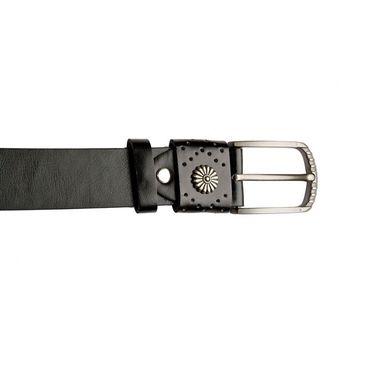 Swiss Design Leatherite Casual Belt For Men_Sd01blk - Black