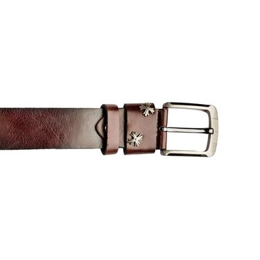 Swiss Design Leatherite Casual Belt For Men_Sd09br - Brown