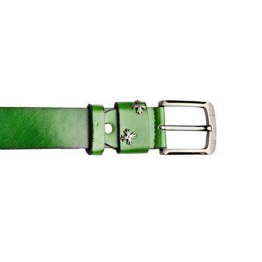 Swiss Design Leatherite Casual Belt For Men_Sd09gr - Green